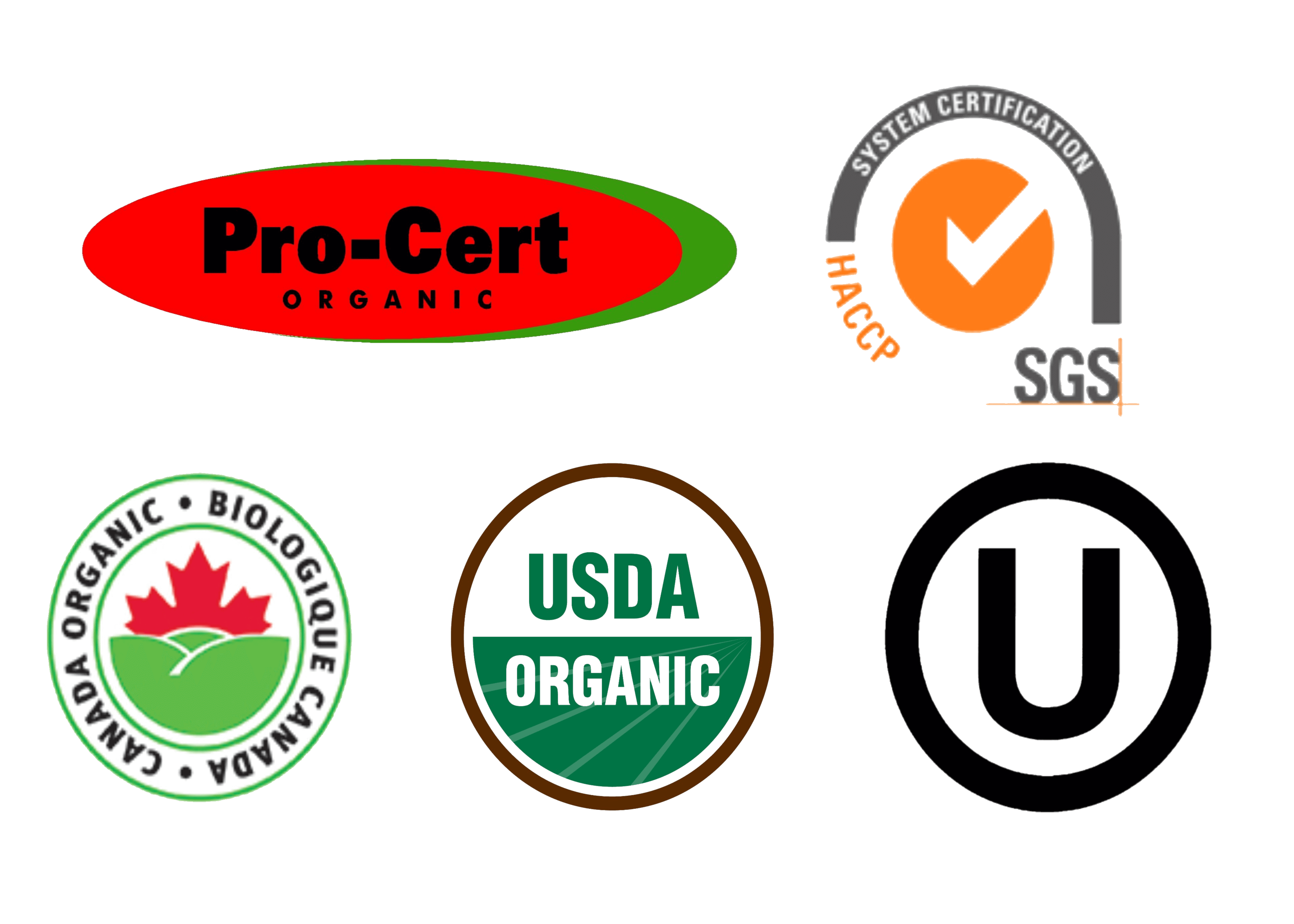 Northern Nutraceuticals Inc Products are Certified Organic - Both Canadian & USDA |Kosher Certified| HACCP & GMP Accredited by SGS